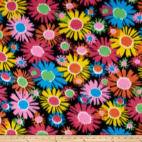 Fleece Flower Power Black