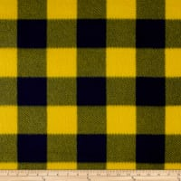 Fleece Buffalo Plaid Print Navy/Maize