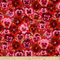 Kaffe Fassett Collective Pansies Orange