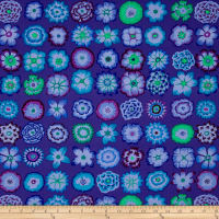 Kaffe Fassett Collective Button Flowers Purple