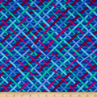 Kaffe Fassett Collective Mad Plaid Cobalt
