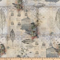 Tim Holtz Wallflower Menagerie Blue
