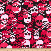 Flannel Skulls Black