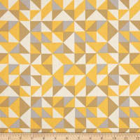 Kaufman Fragmental Diamond Plaid Sunflower