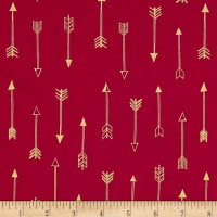 Michael Miller Arrow Flight Metallic Arrows Fuschia