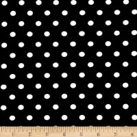 Kaufman Laguna Stretch Jersey Knit Pimatex Basics Polka Dot Black/White