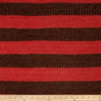 Sweater Knit Stripe Metallic Salmon/Brown