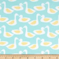 Cloud 9 Organic Flannel Duck Turquoise