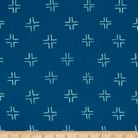 Cloud 9 Organic Brush Strokes Trellis Navy