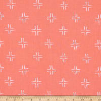 Cloud 9 Organic Brush Strokes Trellis Coral
