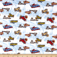 Fabric Merchants Transportation Cotton Spandex Jersey Knit Motor Cross Print