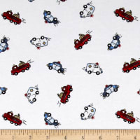 Fabric Merchants Transportation Cotton Spandex Knit Rescue Cars Print