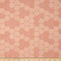 Clarabelle Metallic Hexies Carnation/Gold
