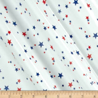 Oilcloth Boston Stars Red/White/Blue