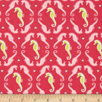 Michael Miller Into The Deep Dapper Seahorses Watermelon