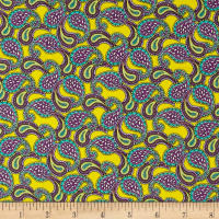 Liberty Fabrics Tana Lawn Paisley Tears Bright Yellow