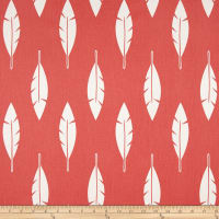 Premier Prints Feather Silhouette Twill Coral