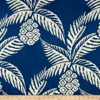 Duralee Pina Pineapple Navy
