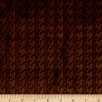Shannon Minky Embossed Houndstooth Brown