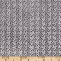 Shannon Minky Embossed Houndstooth Cuddle Silver