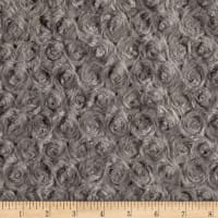 Shannon Minky Luxe Cuddle Rose Charcoal