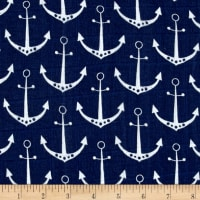 Shannon Embrace Double Gauze Anchors Cobalt