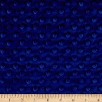 Shannon Minky Cuddle Dimple Royal Blue