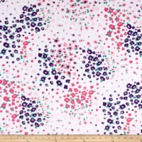 Shannon Studio Minky Cuddle Floral Fields Paris Pink