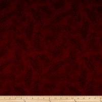"110"" Wide Flannel Quilt Back Fern Wine"