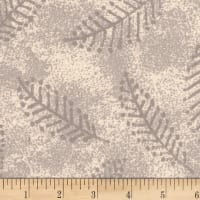 "Westrade 110"" Wide Flannel Quilt Back Fern Ivory"