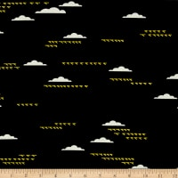 Birch Organic Charley Harper Maritime Birds and Clouds Black
