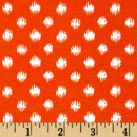 Fabric Merchants Cotton/Lycra Spandex Jersey Knit Abstract Dot Orange