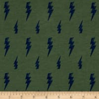 Fabric Merchants Cotton/Lycra Spandex Stretch Jersey Knit Thunderbolt Sage