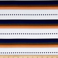 Fabric Merchants Cotton Lycra Spandex Jersey Knit Navajo Print Indigi