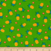 Fabric Merchants Cotton/Lycra Spandex Jersey Knit Pineapple Pint Green