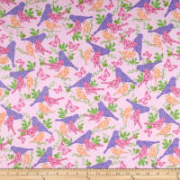 Comfy Flannel Bird Silhouette Pink