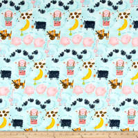 Comfy Flannel Nursery Rhymes Blue