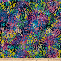 Indian Batik Cascades Stain Glass Multi