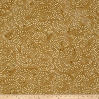 Indian Batik Hollow Ridge Scroll Vine  Tan/Natural