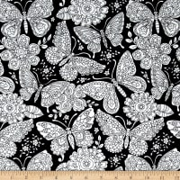 Michael Miller Color Me Papillon Paisley Black