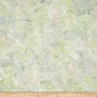 Wilmington Batiks Flower Field Tan/Green