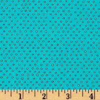 Pixie Square Dot  Turquoise