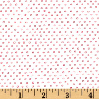 Pixie Square Dot  White/Red