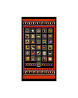 QT Fabrics Creepy Hollow Halloween Patch 24 In. Panel Black/Orange