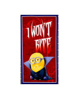 QT Fabrics Bite Me I Won't Bite 24 In. Panel Red