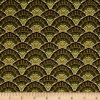 QT Fabrics Bountiful Blessings Packed Tail Feathers Green