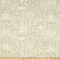 Heavenly Angel Medallions Toile Natural