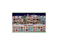 Santa Coming To Town Advent Calendar 24 In. Panel Multi