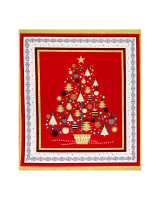 QT Fabrics All That Glitters Metallic Christmas Tree 36 In. Panel Red