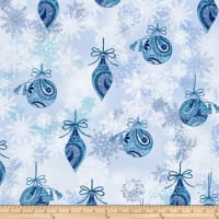 Winter Frost Ornaments & Snowflakes Blue